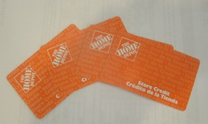 Home Depot store credit cards purchased at deep discount