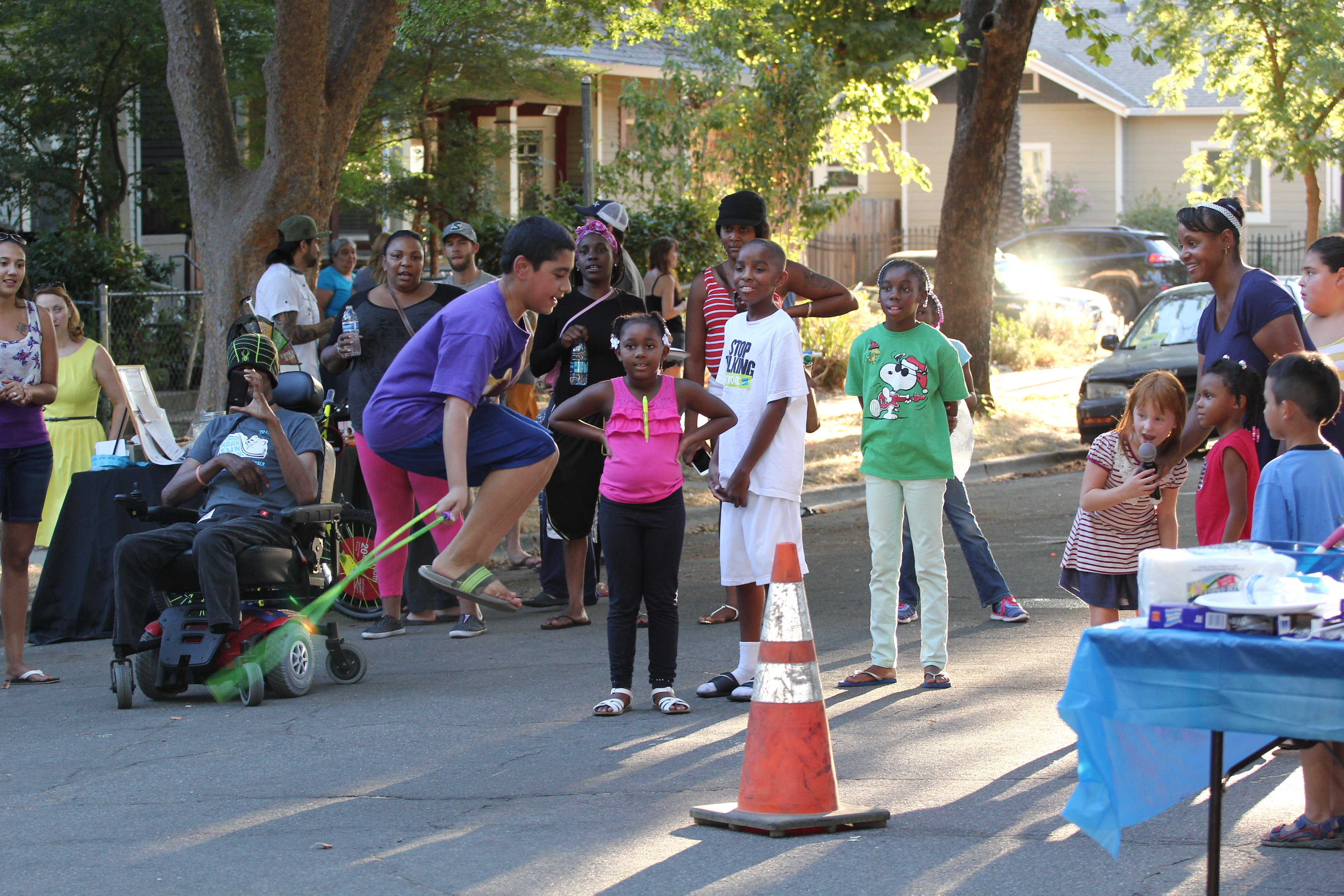 jump rope contest aids neighborhood development